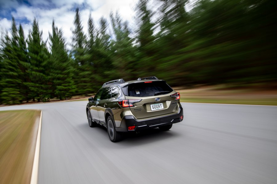 the 2021 Outback X driving