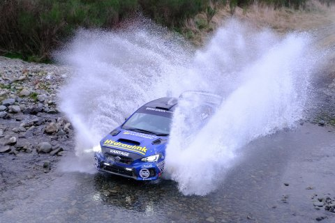 Subaru WRX STI driver Ben Hunt and co-driver Tony Rawstorn have claimed their fourth NZRC victory from four after the Stadium Finance Rally of South Canterbury today. PHOTO: GEOFF RIDDER.