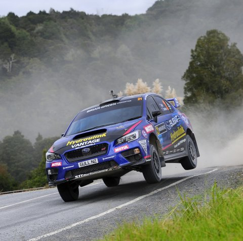 Ben Hunt and co-driver Tony Rawstorn are looking forward to tackling the Brian Green Property New Zealand Rally Championship in the Subaru WRX STi. PHOTO: GEOFF RIDDER.