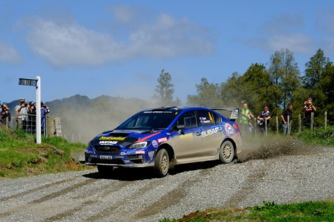 Ben Hunt and Tony Rawstorn will be looking to gain maximum points at Rally New Zealand this weekend to boost their chances of winning the 2017 Brian Green Property Group New Zealand Rally Championship in the Subaru WRX STi. PHOTO: GEOFF RIDDER.