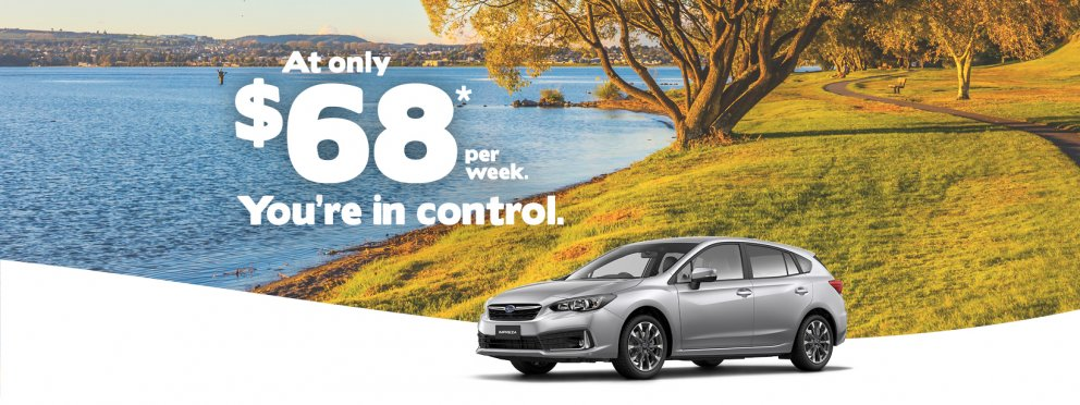Get into an Impreza faster for only $68 per week with the Subaru Accelerator Programme.