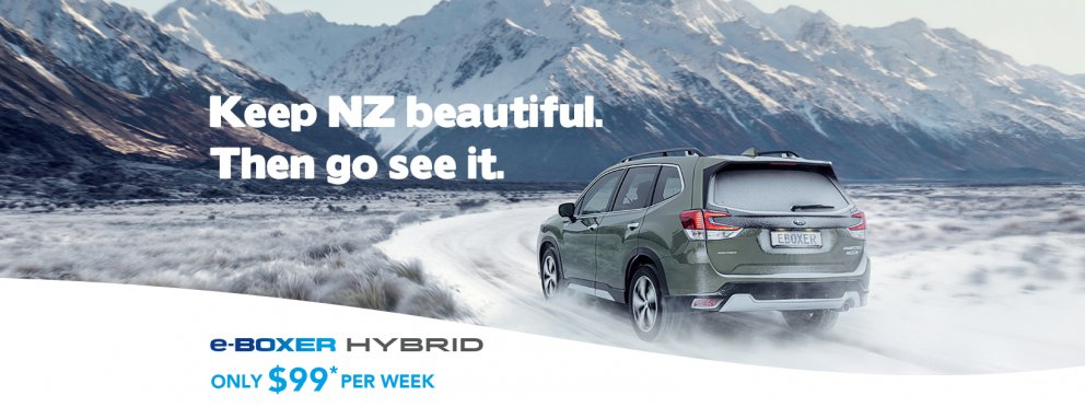 Subaru e-Boxer Hybrids available from only $99 per week. Find out more.
