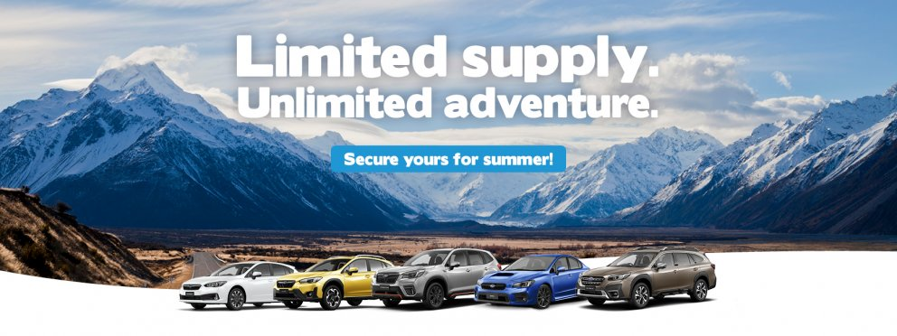 Limited supply but unlimited adventure with the Subaru range