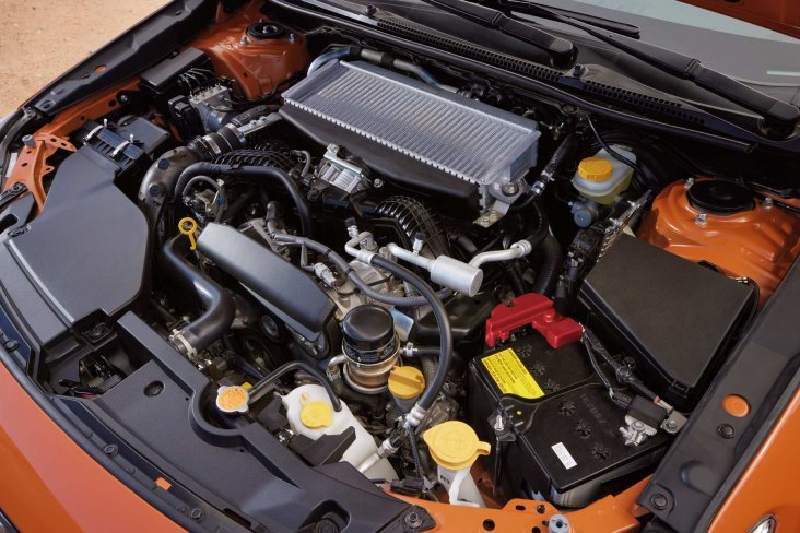 A 2.4-litre direct injection Subaru Boxer turbo engine quickly responds to acceleration and generates high torque from low rpm.