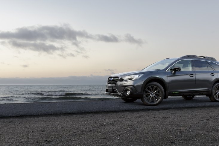 """The Subaru Outback X is a good-looking trailblazer and is certainly a head-turner with its black 18"""" alloy wheels, front grille, wing mirrors and rear badging."""