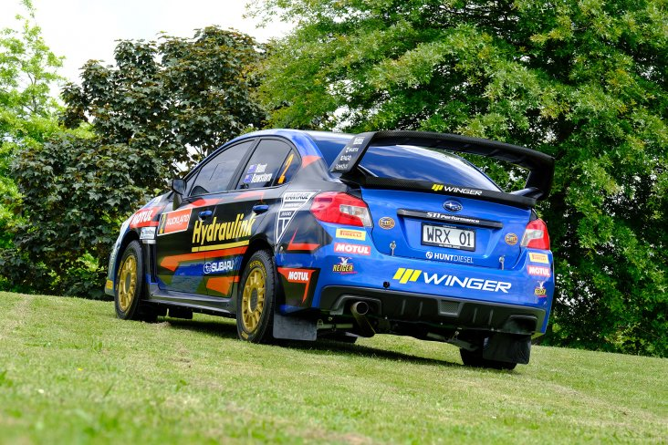 The Hunt Motorsports team has performed their usual fastidious shakedown of the Subaru WRX STI to ensure its new wiring looms and lightweight refit are all functioning at 100 per cent. Photo: Geoff Ridder.