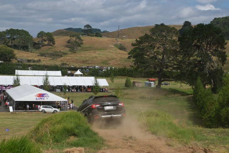 The Subaru SUV track at the Leadfoot Festival.