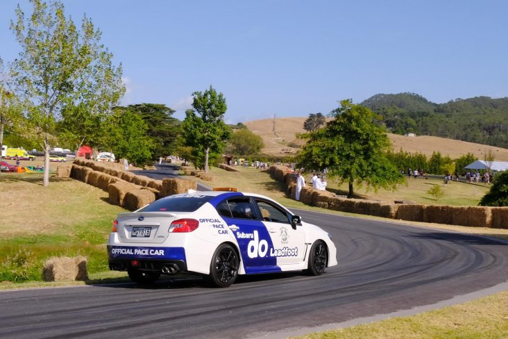 The Subaru WRX was the official pace car at the 2020 Leadfoot Festival.