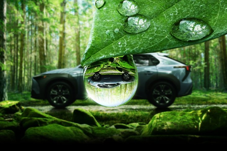 Subaru Corporation reveals new images of the all-electric SUV, the Subaru Solterra.
