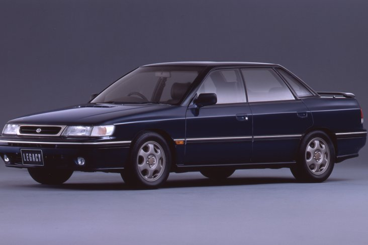 The Subaru Legacy sedan first generation model.