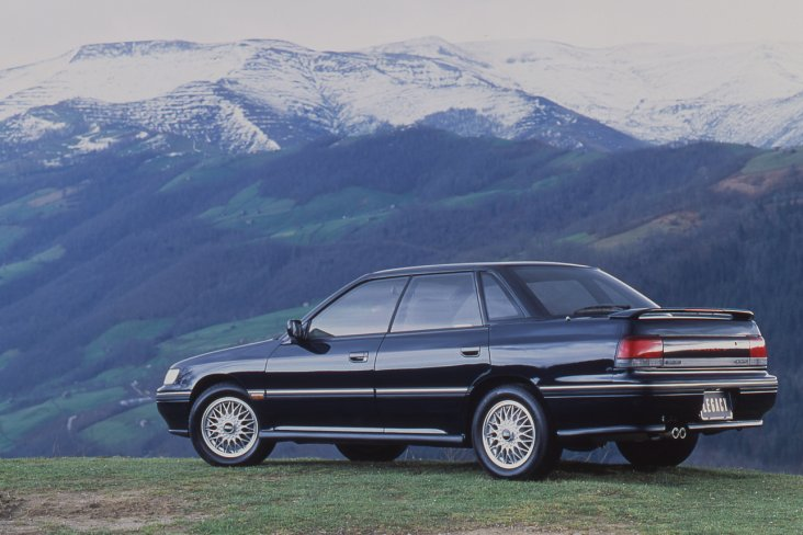 The first generation Subaru Legacy sedan.