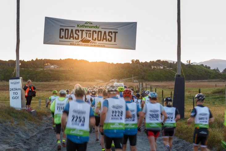 Kathmandu Coast to Coast competitors begin their 243km journey from the West Coast to the East Coast of the South Island.