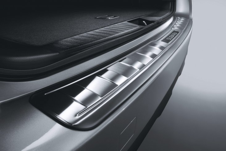 Outback rear step panel stainless