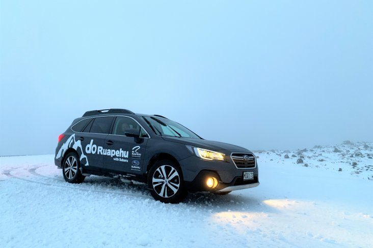 Subaru partners with Mt Ruapehu as the perfect vehicle to take on the mountain.
