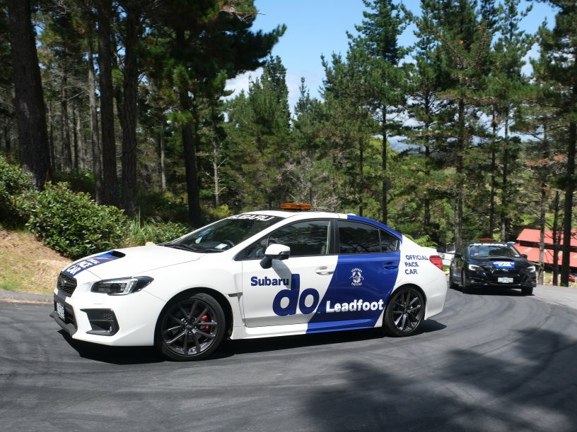 Leadfoot Subaru pace cars