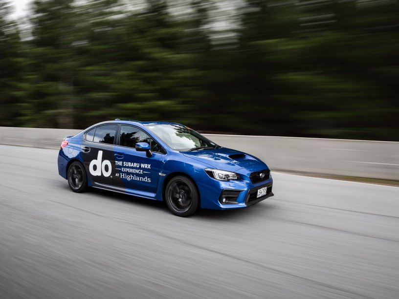 The 2020 Subaru WRX on track at Highlands for the WRX Experience.