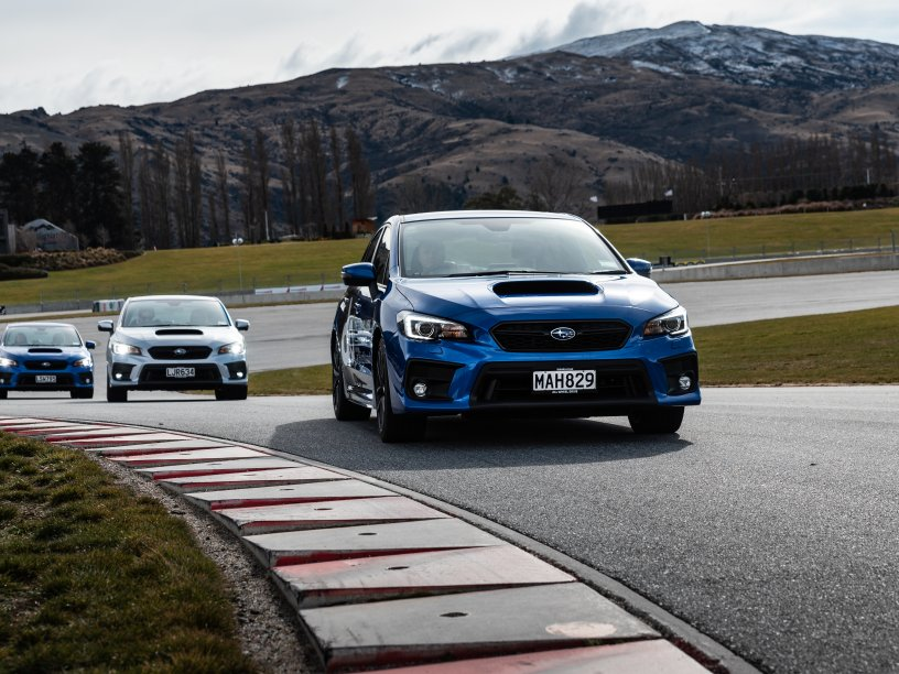 The 2020 Subaru WRXs at Highlands for the Subaru WRX Experience.