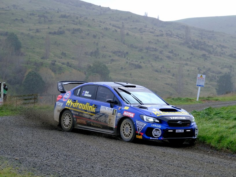 Ben Hunt and co-driver Tony Rawstorn won every stage of the seven-stage Lone Star Rally of Canterbury in the Subaru WRX STI yesterday. PHOTO: GEOFF RIDDER.