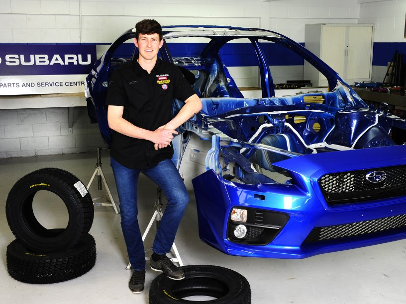 Ben Hunt with Subaru WRX STi NR4 - credit Geoff Ridder