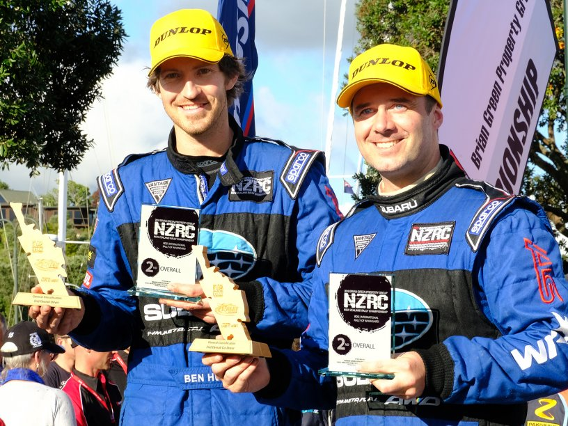 Ben Hunt and Tony Rawstorn at the 2018 Whangarei Rally. Photo Credit Geoff Ridder