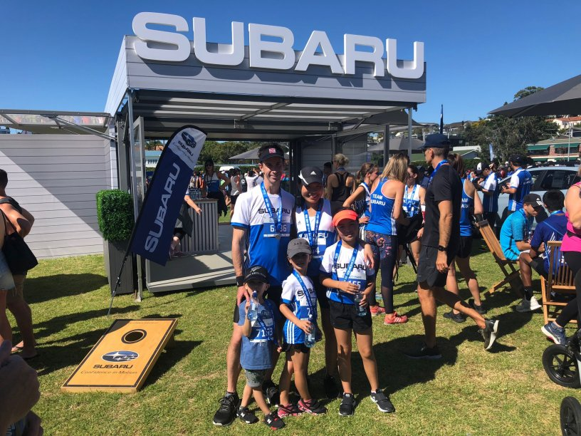 Team Subaru entrants at Round the Bays