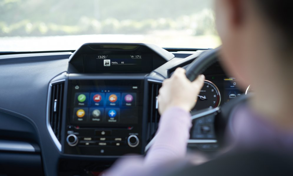 The Subaru Driver Monitoring System recognises the driver and adjusts cabin preferences and monitors the driver.
